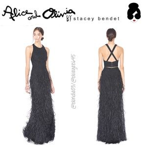 Alice + Olivia beaded feather Top + Skirt set 0